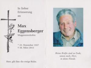 Max Eggensberger